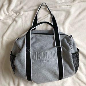 Victoria's Secret Sport Light Gray Gym Bag